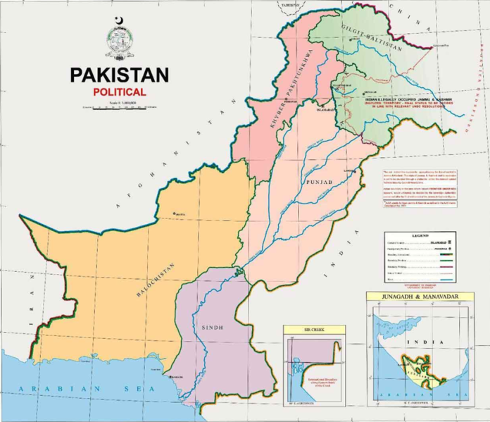 New map (Pakistan claimed)